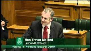 Government Notice of Motion No 3 - Vacancy in Northland Electoral District - Part 1