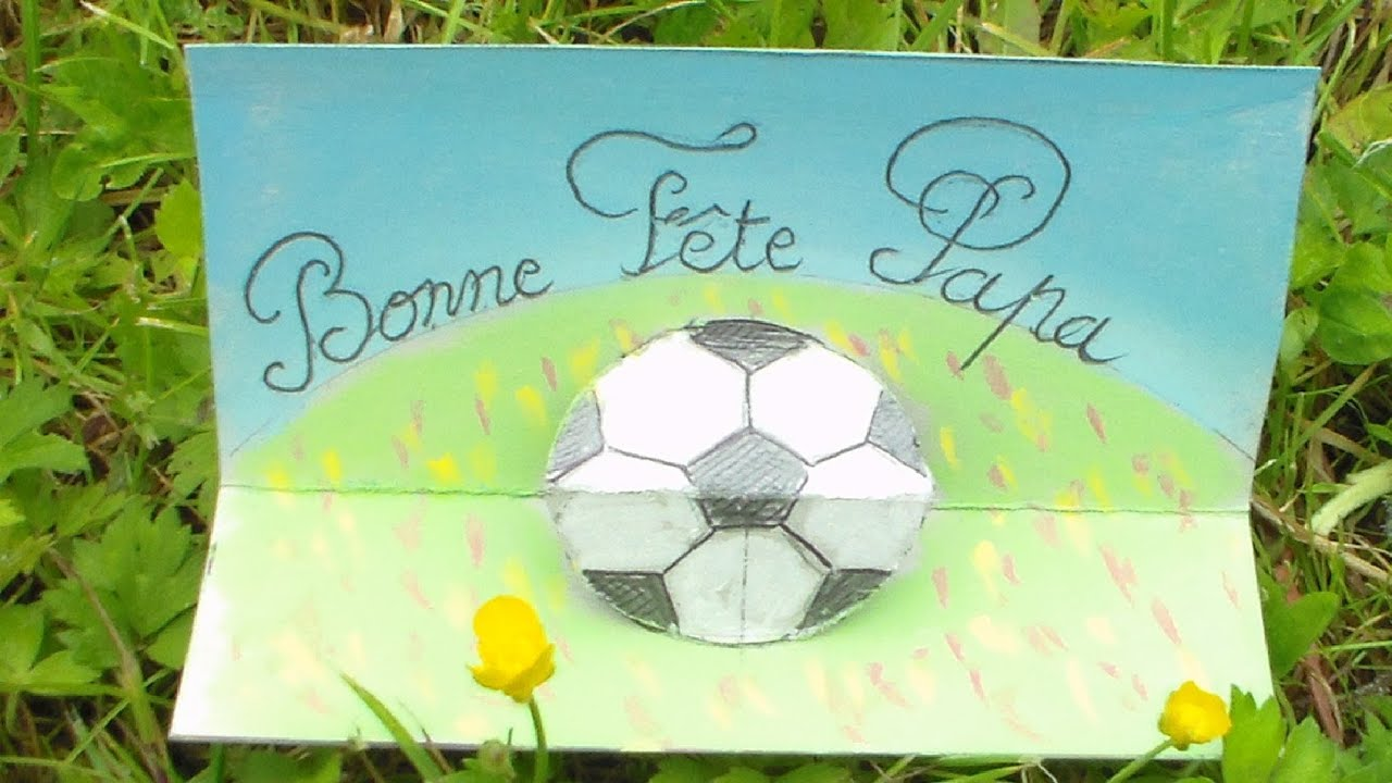 bricolage f te des p res carte 3d football bonne f te papa youtube. Black Bedroom Furniture Sets. Home Design Ideas