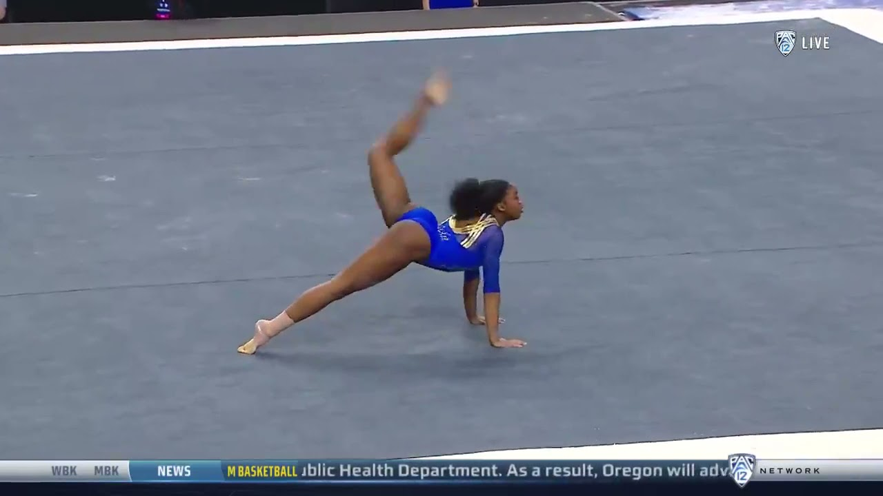 Chae Campbell (UCLA) 2021 Pac-12 Championships - Floor 9.95