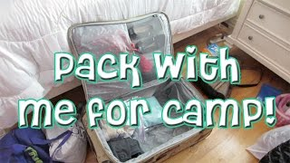 Pack With Me For Camp! | Vlog #1