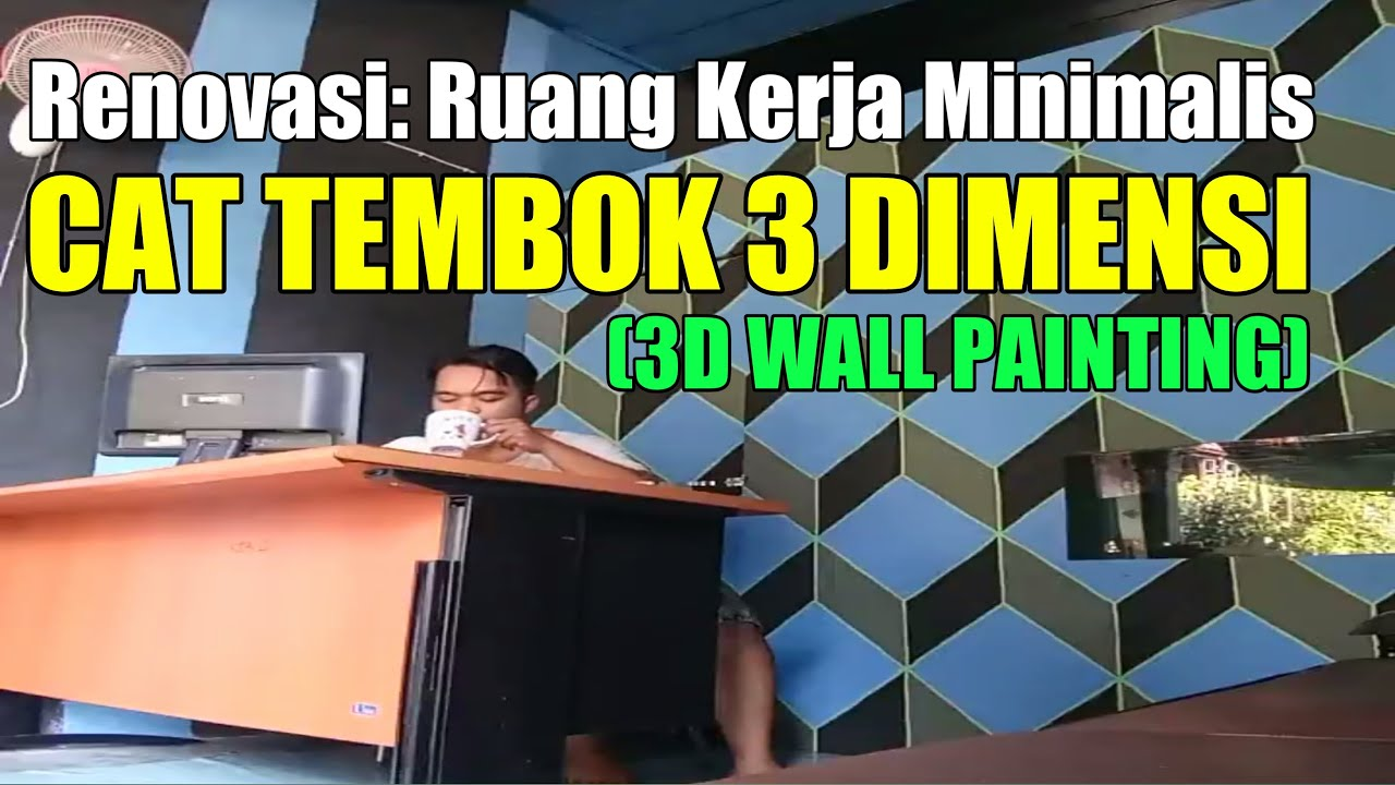 Cat Tembok 3 Dimensi. 3D wall painting. - YouTube