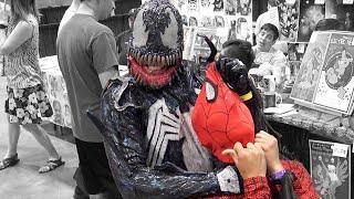 Venom vs Spiderman In Real Life | Comic Con Las Vegas 2016