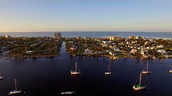 Florida Fort Myers Beach 2017 filmed from the air by a Drone after Hurricane Irma