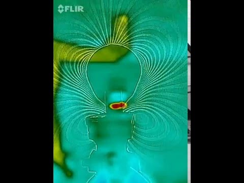 First time Ever Seen! #1 FLIR: Dielectric heating induction along inertial plane of magnet