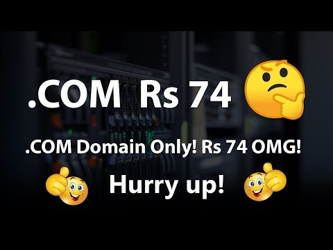How To Register a .COM Domain for Rs 74 only! OMG! - 동영상