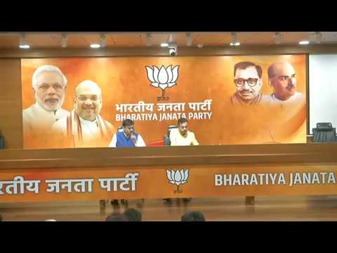 Joint Press Conference by Dr. Sambit Patra & GVL Narsimha Rao at BJP Central Office, New Delhi