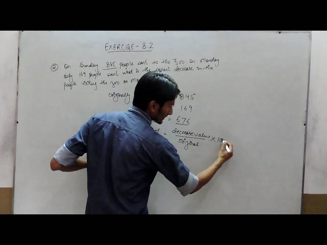 Exercise 8.2 - Question 2 NCERT/CBSE Solutions for Class 8th Maths Comparing Quantities
