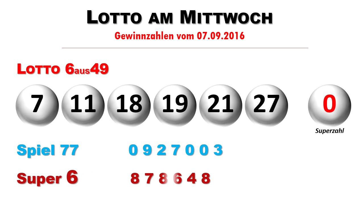Super Lotto Zahlen