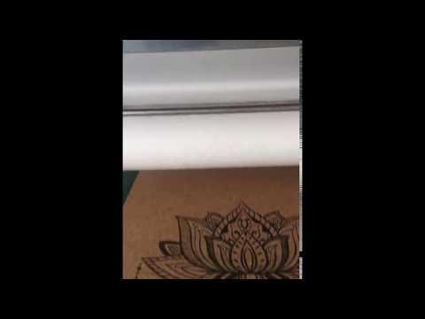 cork yoga mats printing process from yoga mats factory