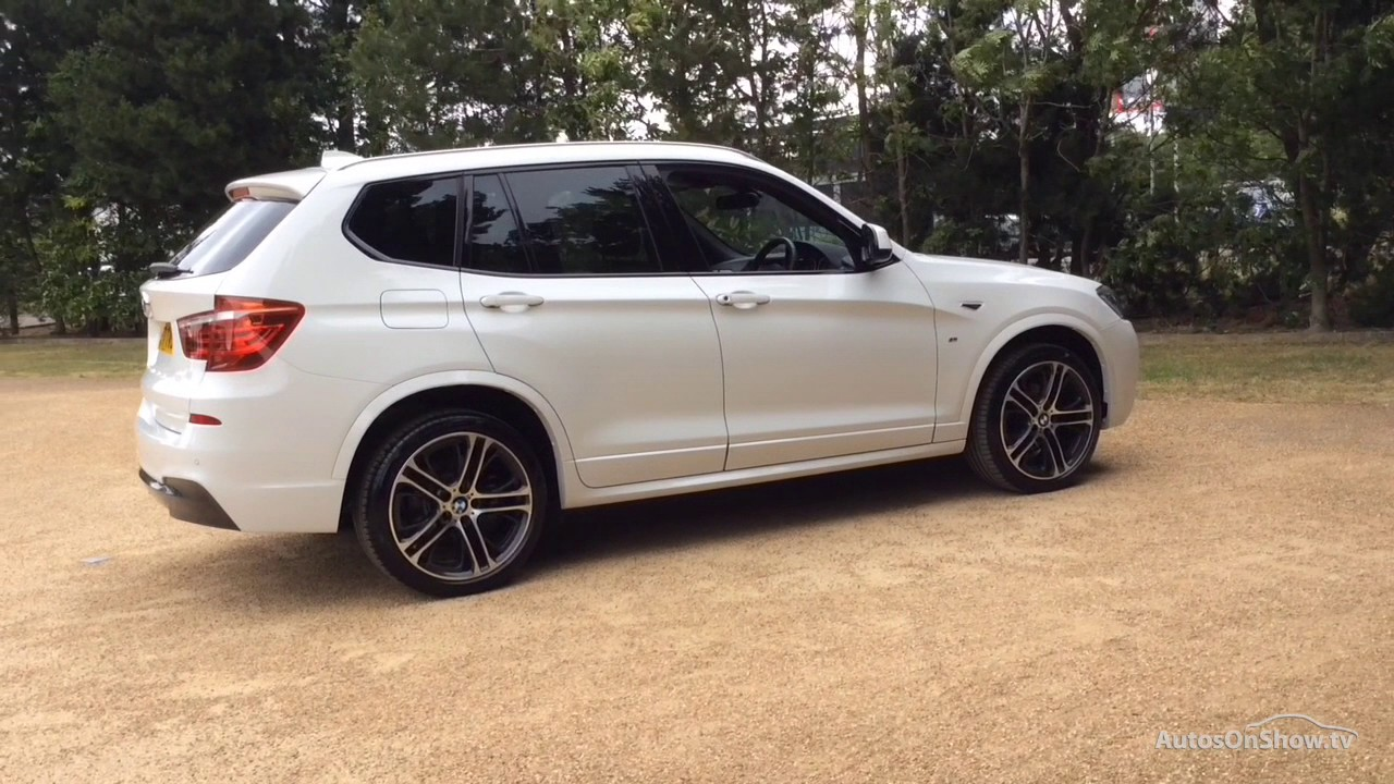 bmw x3 xdrive20d m sport white 2017 youtube. Black Bedroom Furniture Sets. Home Design Ideas