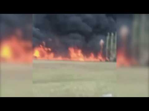 Clayton County elementary school playground on fire