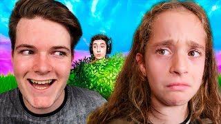 Youtuber liga con mi hermana y le doy una lección en Fortnite...
