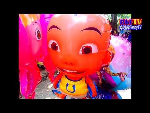 Balon Mainan Anak-anak - Balon Karakter Masha, Boboboy, Ipin-Upin - Toys Kids Balloon Air