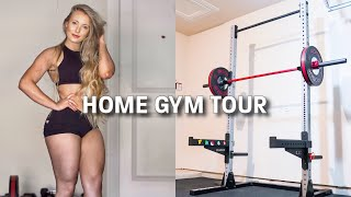 HOME GYM TOUR! Cost Breakdown + Exercise Demonstration
