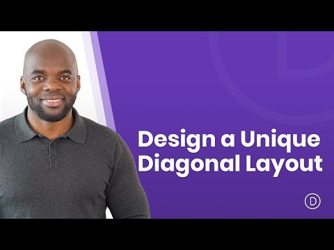 How to Design a Unique Diagonal Layout with Divi