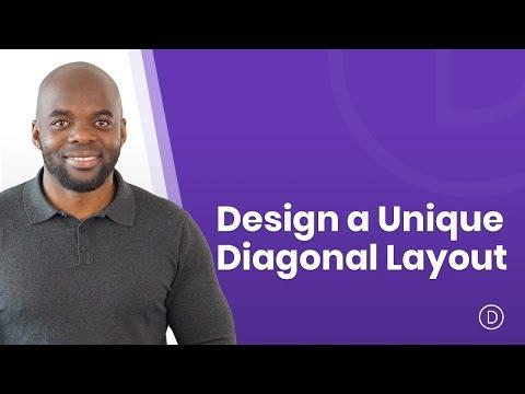 How to Design a Unique Diagonal Layout with Divi
