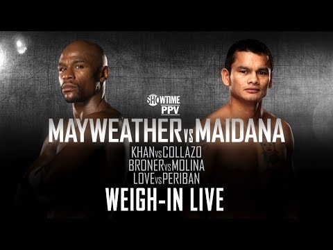 Weigh-In Live: Mayweather vs. Maidana - SHOWTIME Boxing