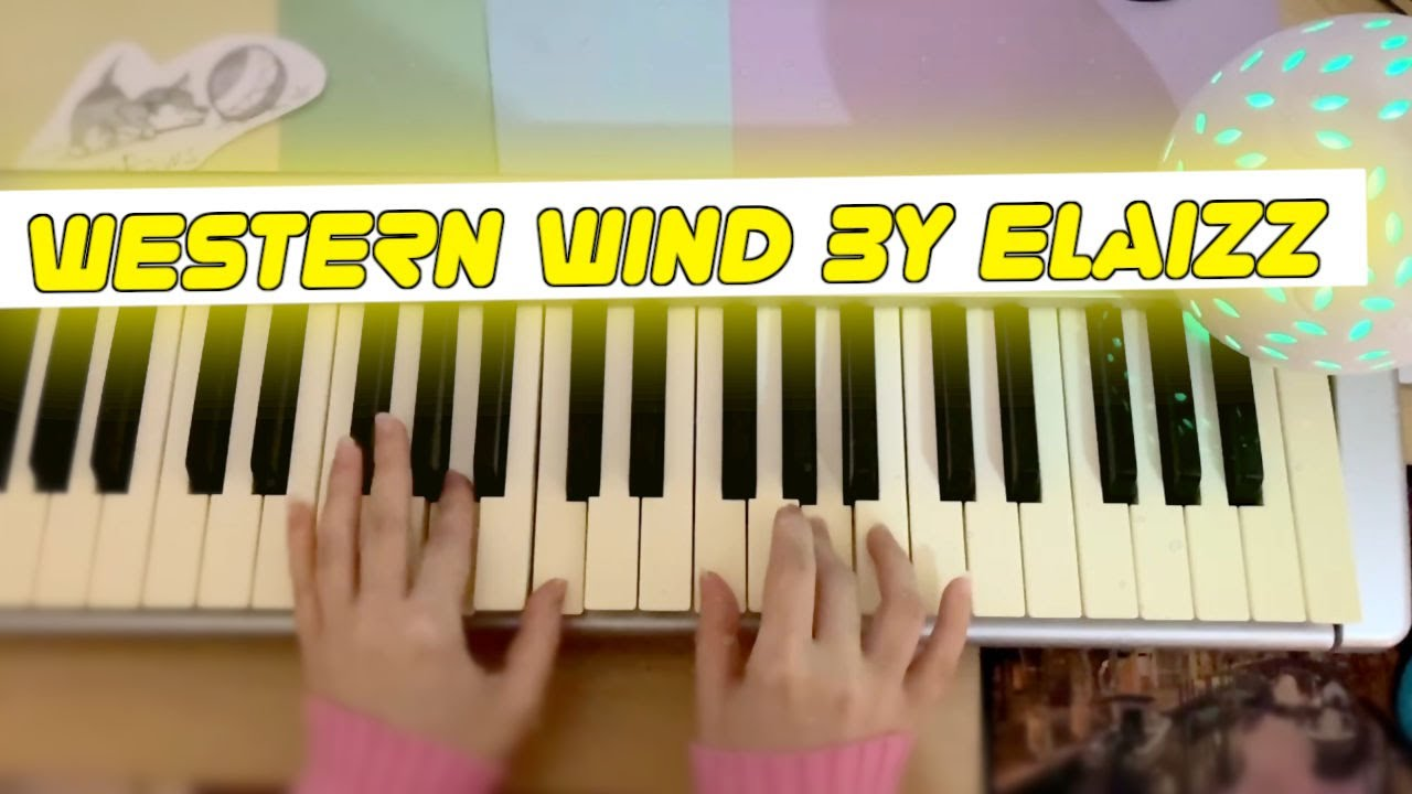 I play on piano for sleeping | Western Wind by Elaizz | sleep lullaby music