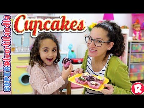 Pastelería Andrea! Cupcakes en SUPERDivertilandia con Raquel.