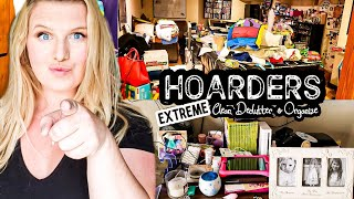 HOARDERS HOUSE CLEAN UP | CLEANING, ORGANIZING AND DECLUTTERING MOTIVATION | CLEAN WITH ME
