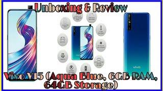 Vivo V15 (Aqua Blue,6GB RAM,64GB Storage) Unboxing & Review ।।32MP Pop Up Selfie ।। MeSoraStyle
