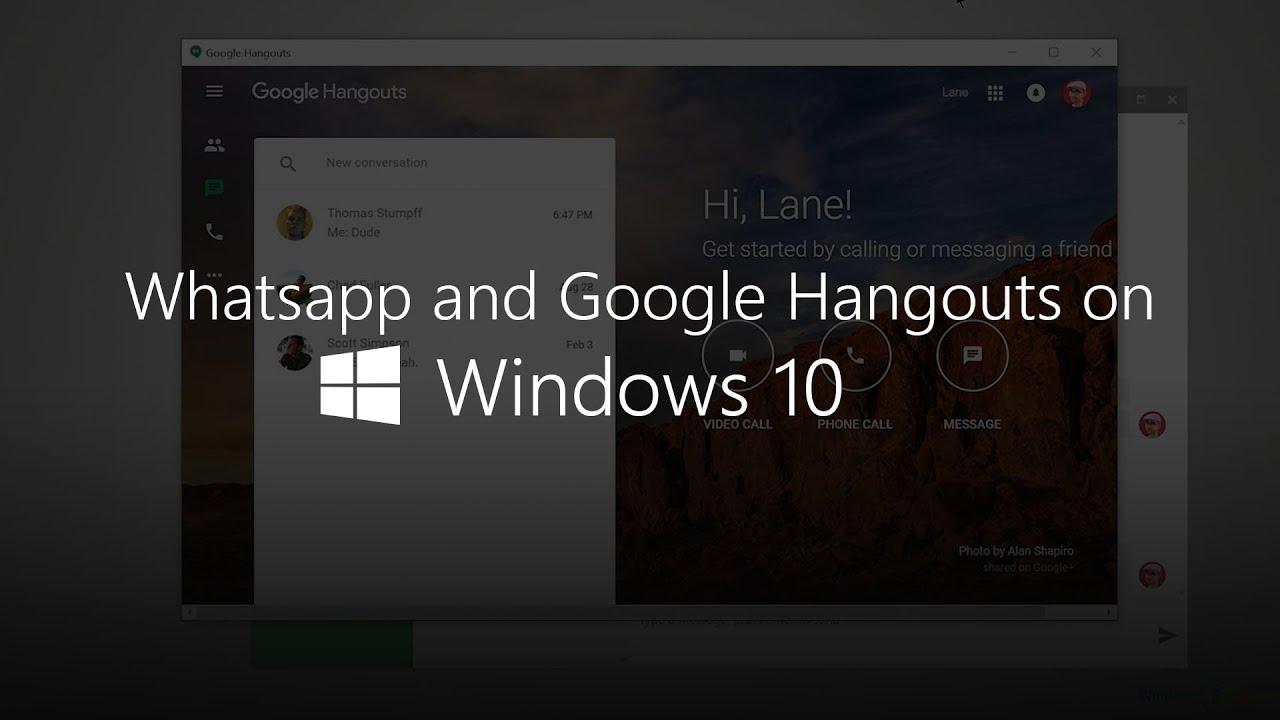 Hangouts windows 10