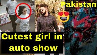 cutest girl in auto show | Biggest auto show in Pakistan 2018 | auto show 2018