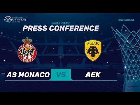 AS Monaco v AEK - Final - Press Conference