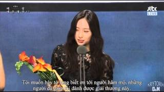 [Vietsub] f(x) Krystal wins Popular Actress Award at 51st Baeksang Arts Awards 2015 {Krytoria Team}