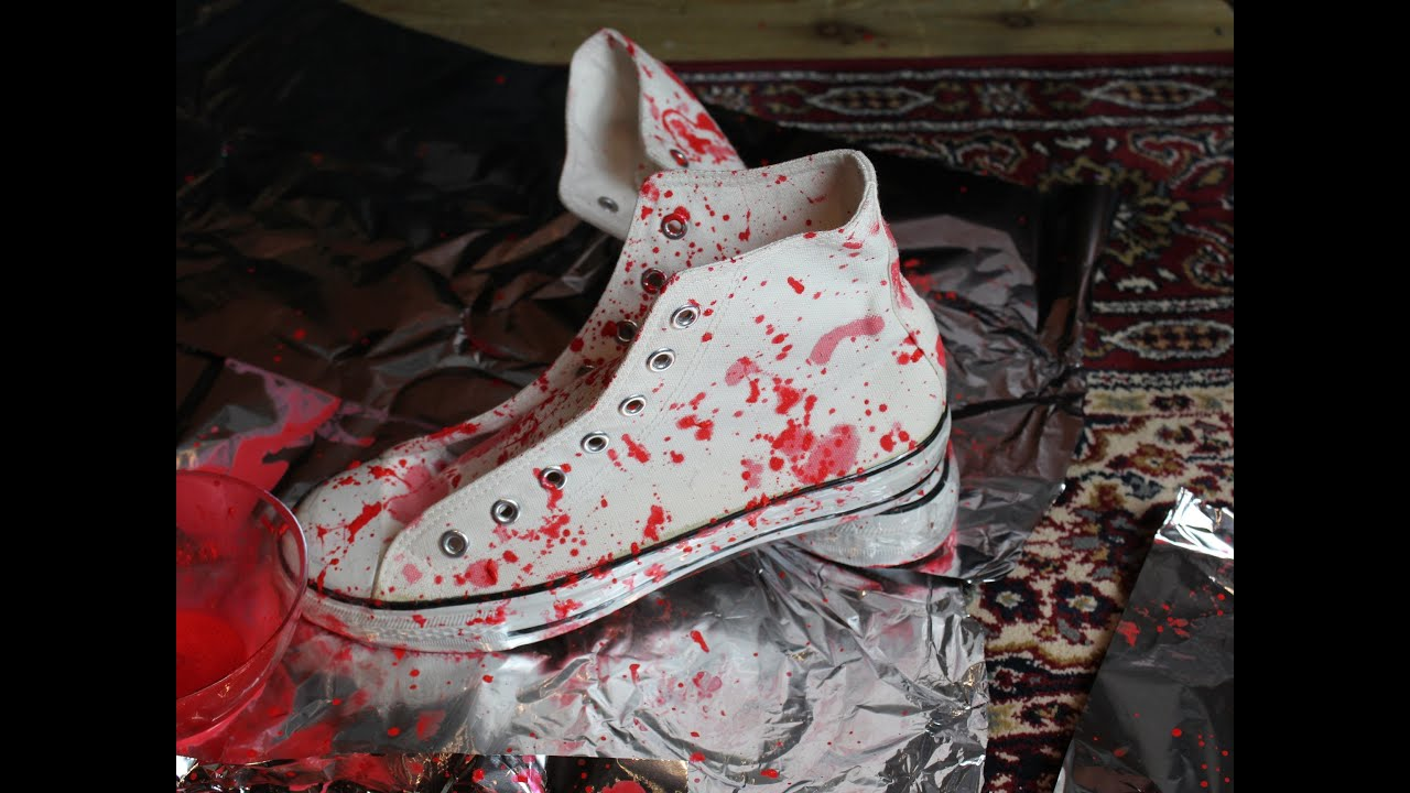 FASHION DIY: Splatter Shoes Tutorial Cool Designer Shoes