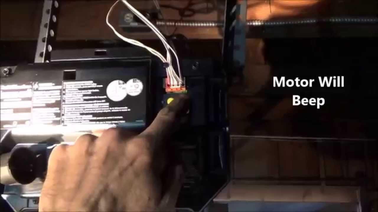 Travel LimitsAdjust Chamberlain LiftMasterProgram Buttons  YouTube