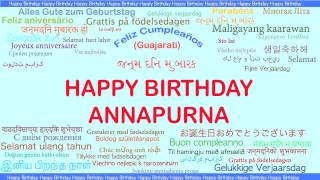 Annapurna   Languages Idiomas - Happy Birthday