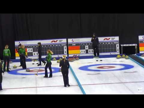Russian curling. Victoria Moiseeva -- Triple Takeout for 3