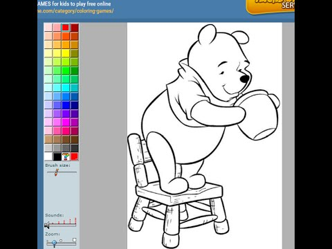 Colouring Games Online Play : Winnie the pooh coloring pages for kids