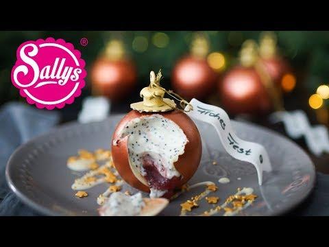 Weihnachtskugel Dessert mit Mousse / Christmas Ball Chocolate Dessert / Sallys Welt