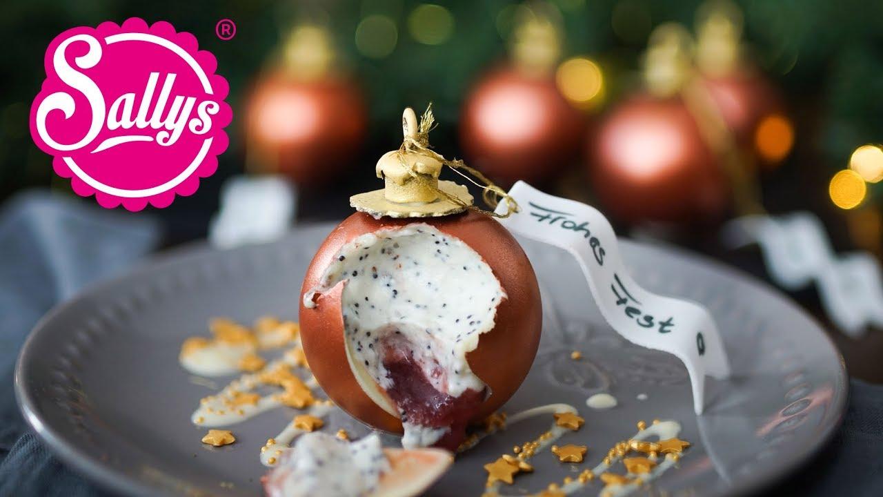 weihnachtskugel dessert mit mousse christmas ball. Black Bedroom Furniture Sets. Home Design Ideas