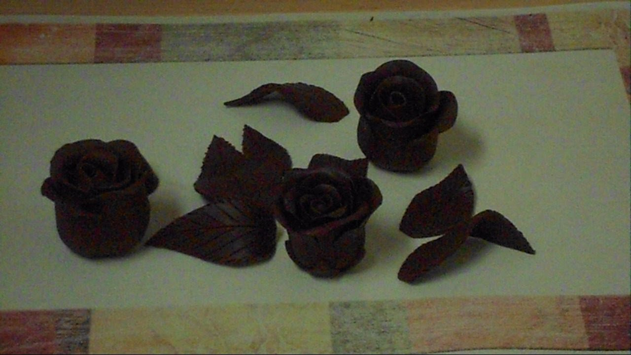 How To Make Chocolate Roses Youtube