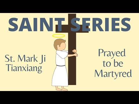 St. Mark Ji Tianxiang - Opium addict who died a martyr