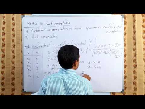 Correlation Analysis - concept & Coefficient of Correlation in hindi