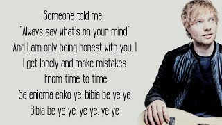 Gambar cover Bibia Be Ye Ye - Ed Sheeran (Lyrics)