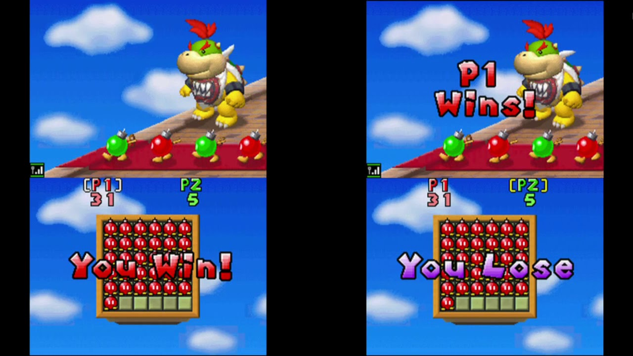 New Super Mario Bros  DS - Minigame VS - Table Minigames - 2 Players