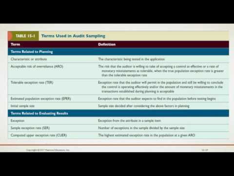 Auditing and Assurance Services Chapter 15