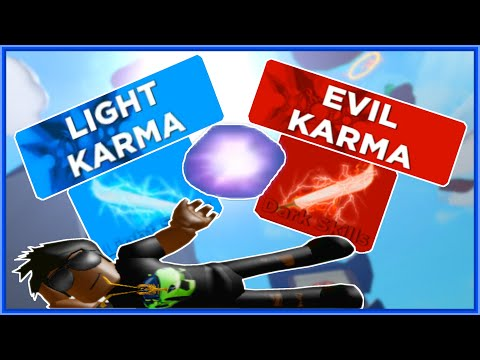 How To GET LIGHT And EVIL Karma In Roblox Ninja Legends!