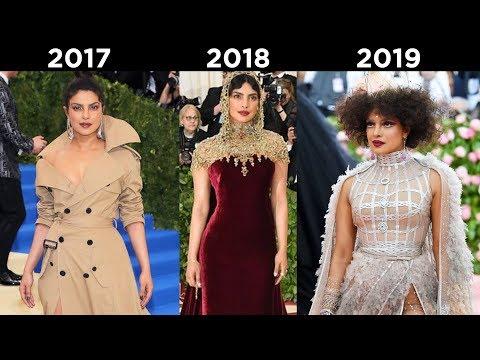 MET GALA Throwback | Priyanka Chopra GORGEOUS Outfits In Met Gala 2017 - 2019