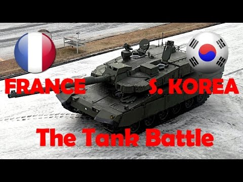 FRANCE vs SOUTH KOREA - Military Power Comparison 2017 - Tank AMX LECLERC vs K2 BLACK PANTHER