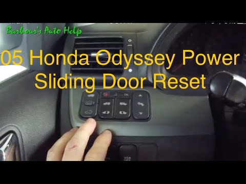 05 Honda Odyssey Power Sliding Door Reset Youtube