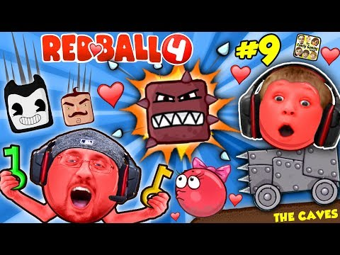 Thumbnail: RED BALL 4: INTO THE CAVES GIRLFRIEND FALLS! FGTEEV #9 w/ Chase Dad Mom Shawn (Volume 5 Level 61-69)