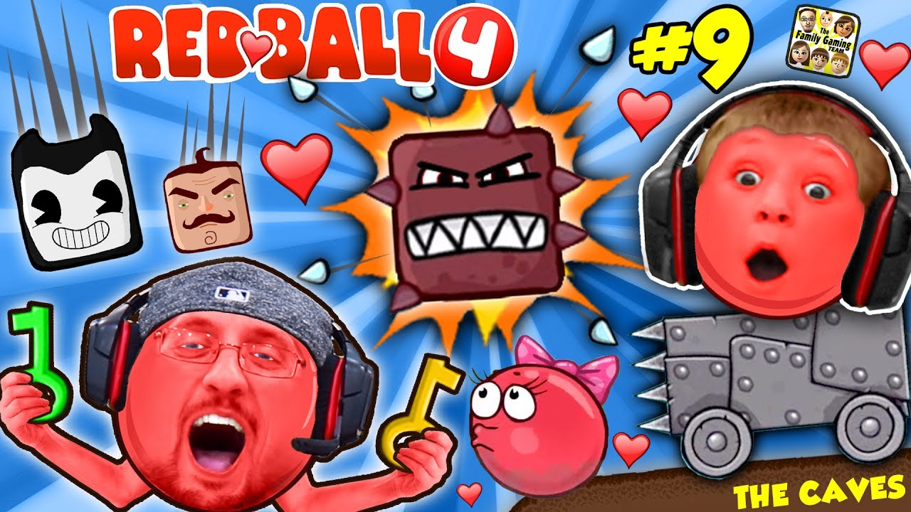 Red Ball 4 Into The Caves Girlfriend Falls Fgteev 9 W Chase Dad