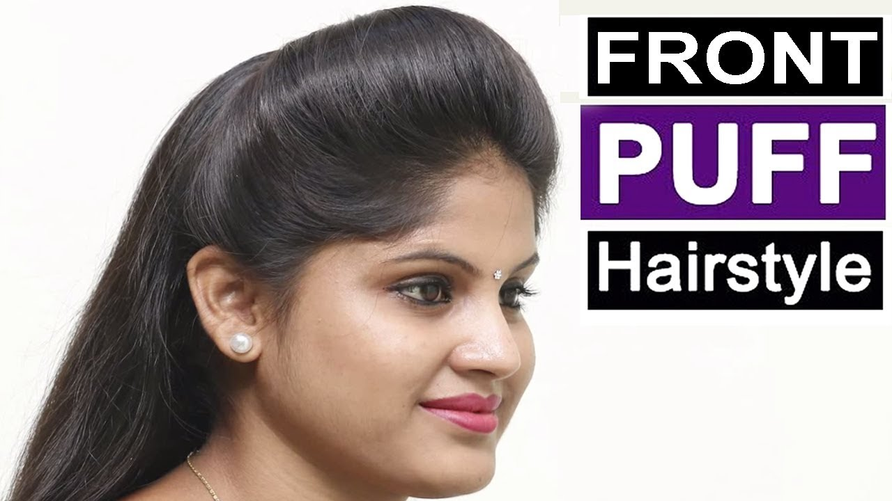 1min front puff hairstyle for thin hair | quick & easy hairstyles with puff