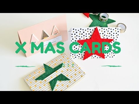 Proste pomysły na kartki na Święta DIY Xmas Cards